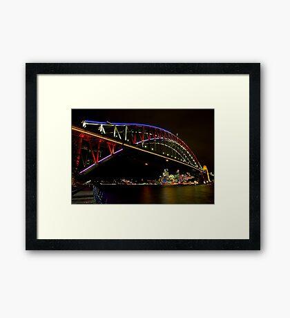 Vivid Sydney Harbour Bridge - Vivid Festival Framed Print