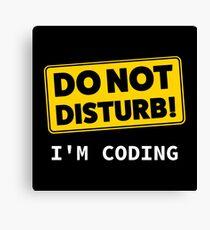 I'm Coding Canvas Print