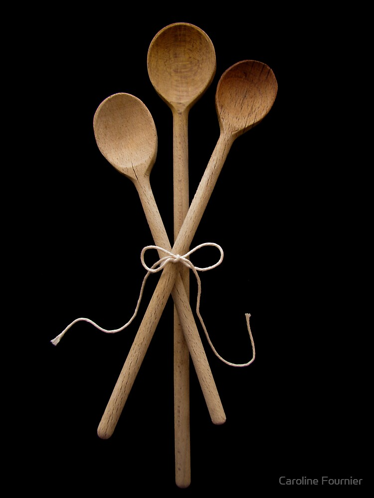 Three Wooden Spoons by Caroline Fournier