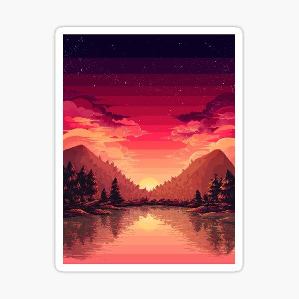 Pink horizon Pegatina
