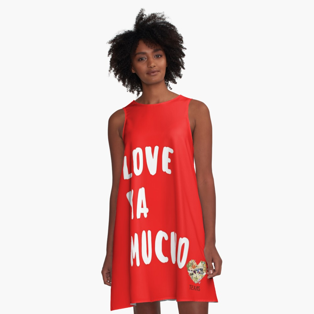 Love in Texas Valentines Day A-Line Dress