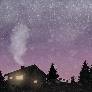 Winter sunset by RikaKatsu