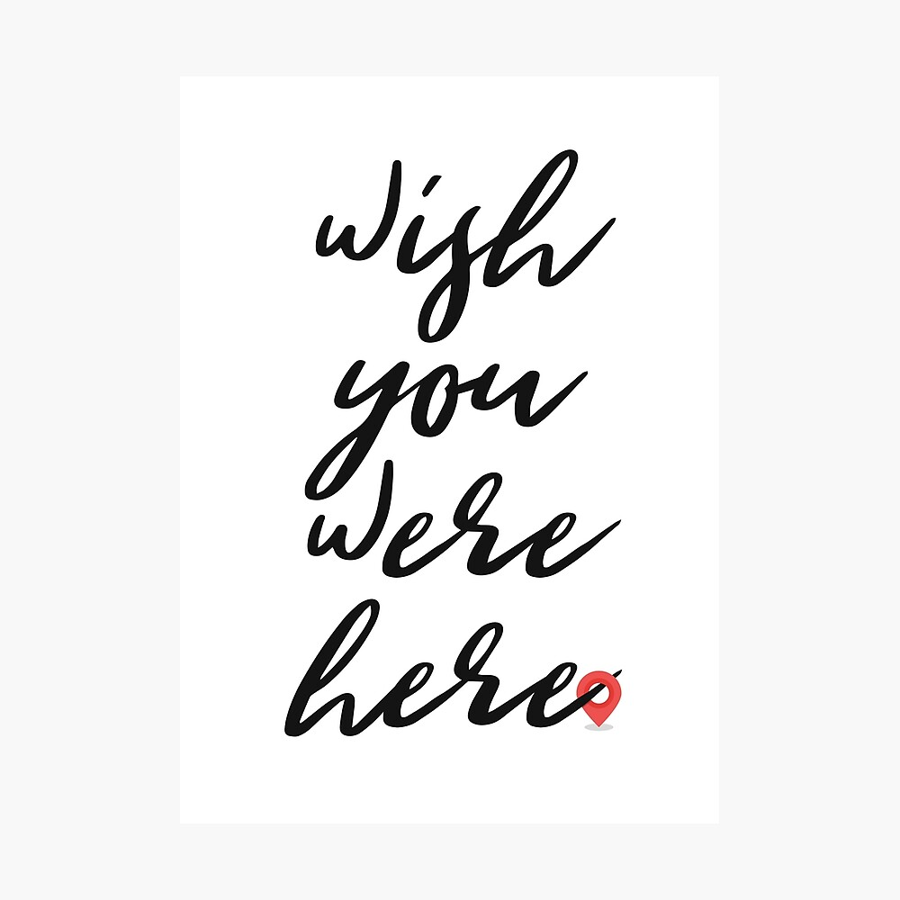 Wish You Were Here Pink Floyd Song Lyric Poster By Gmcguckin