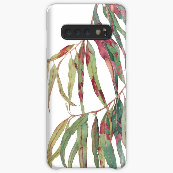 A touch of red - watercolour of eucalyptus branch Samsung Galaxy Snap Case
