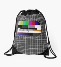 TV signal Drawstring Bag