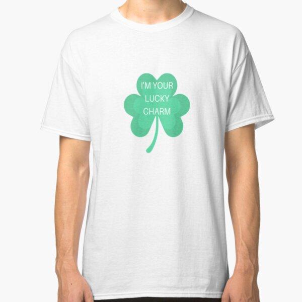 Minty Tees Distressed Irish Lucky 13 Horseshoe /& Shamrock Mens T-Shirt