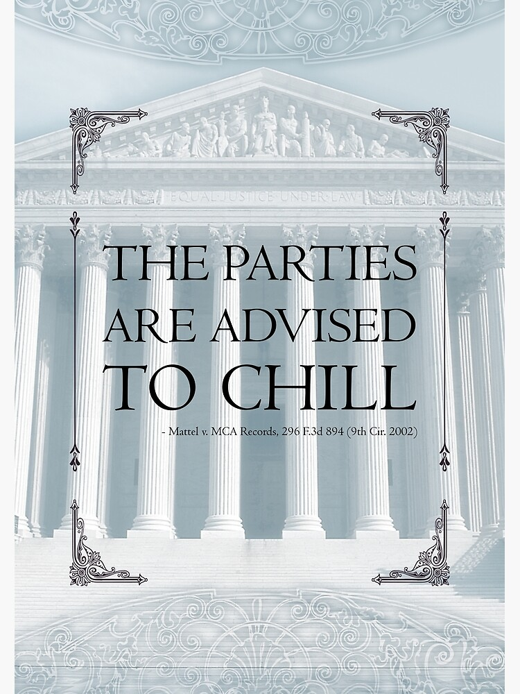 The Parties Are Advised To Chill by QGPennyworth