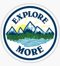 Explore More Circle Mountains Sticker