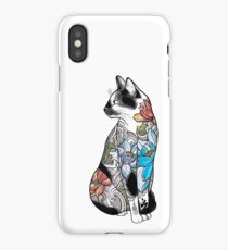 Cat in Lotus Tattoo iPhone Case/Skin