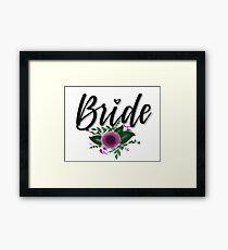 Bride (floral) Framed Print