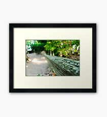 Green on the railing - Vans Beach - Leland, Michigan - Lake Michigan Framed Print