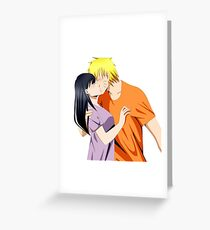 naruto and hinata kiss Greeting Card