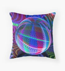 Colours in the round Throw Pillow