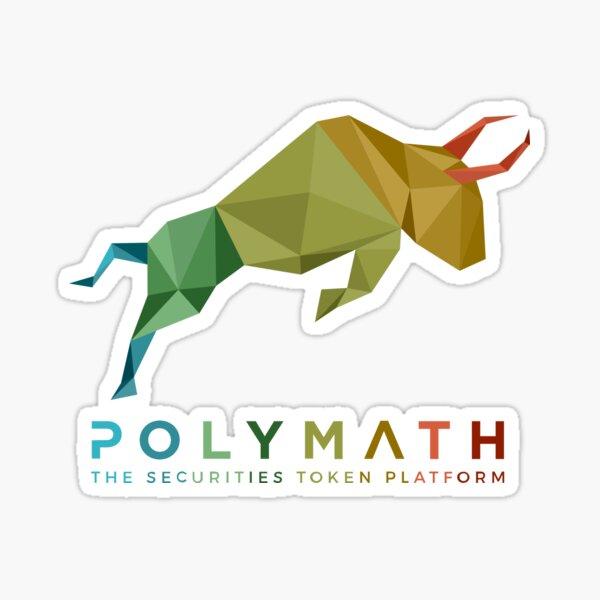 Polymath Network Logo Rainbow Logo Sticker