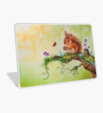 Squirrel and ladybug by Maria Tiqwah Laptop Skin