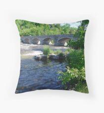 5-Span Stone Bridge Throw Pillow