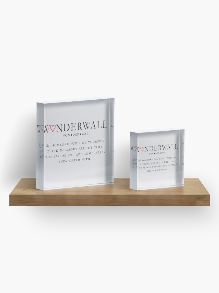 Alternate view of Wonderwall Definition Acrylic Block