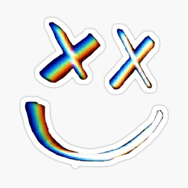 Sonrisa de Rainbow Little X Pegatina