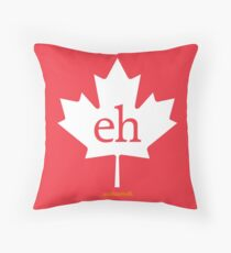 16220-01-CNW – Canadian Maple Leaf Eh – Standard (White) Throw Pillow