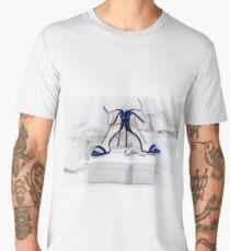 Blue Jimmy Choo Shoes And White Wedding Dress Men's Premium T-Shirt