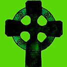 Green Celtic Cross by Ruben Flanagan