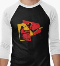 Guitarist Modern Style Digital Painting Men's Baseball ¾ T-Shirt