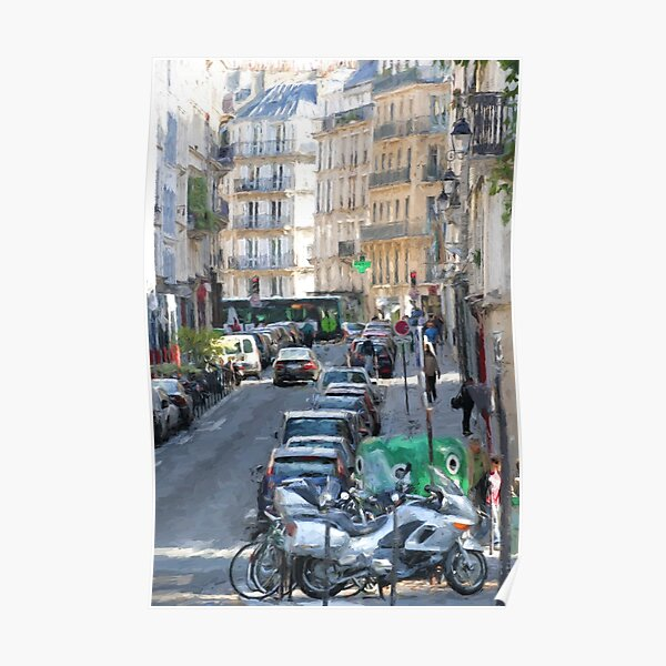 Typical Paris street view Poster