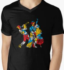Colorful Abstract Musicians Modern Style Men's V-Neck T-Shirt