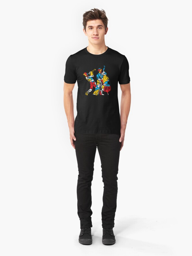 Alternate view of Colorful Abstract Musicians Modern Style Slim Fit T-Shirt