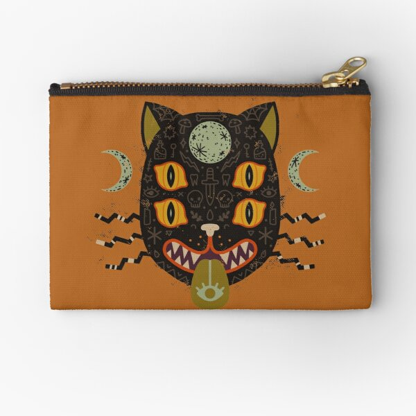 Spooky Cat Zipper Pouch