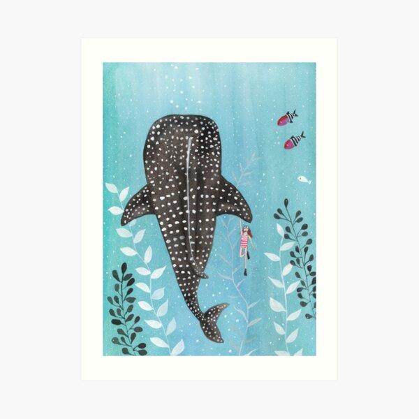 Whale shark! Art Print