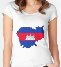 Cambodia  Women's Fitted Scoop T-Shirt