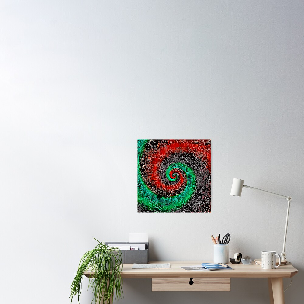 Abstract Golden spiral Poster
