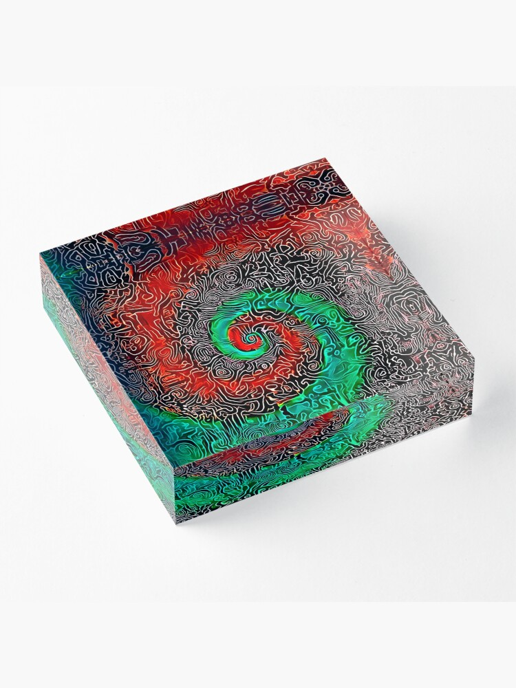 Alternate view of Abstract Golden spiral Acrylic Block