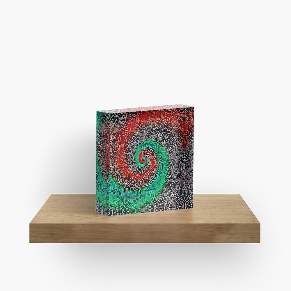 Abstract Golden spiral Acrylic Block