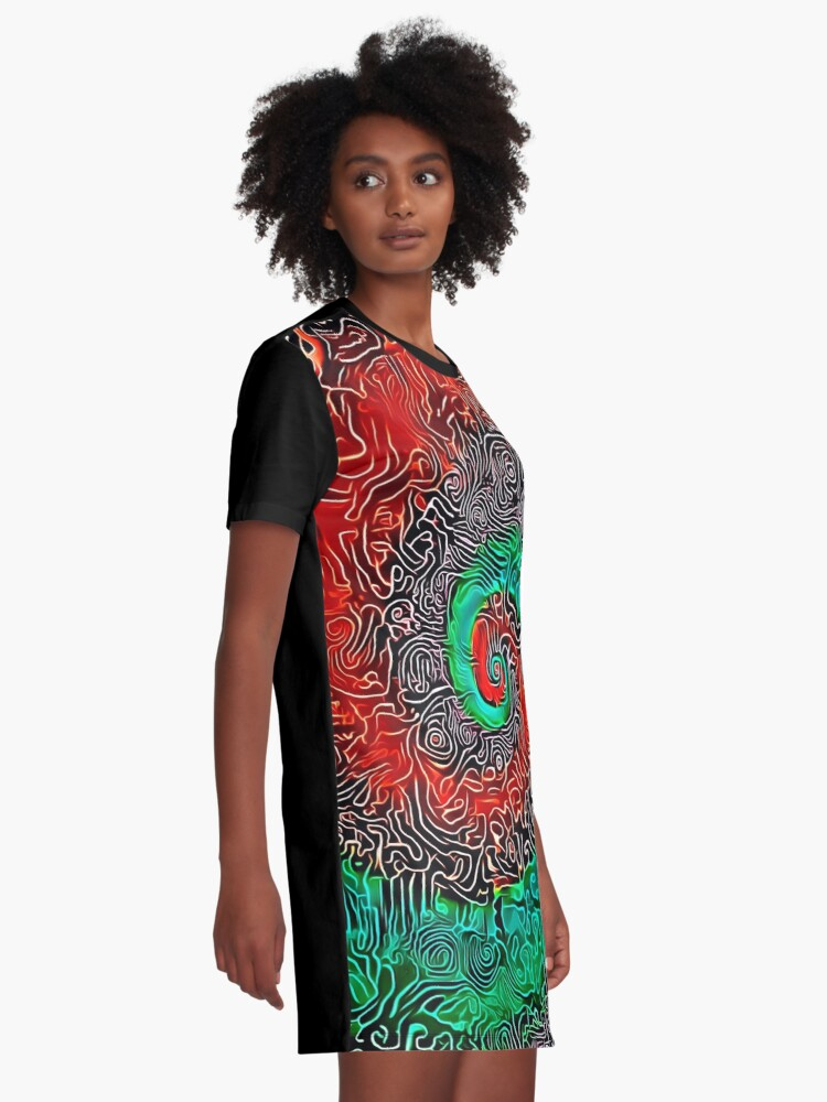 Alternate view of Abstract Golden spiral Graphic T-Shirt Dress