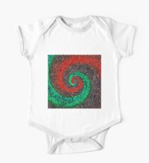 Abstract Golden spiral Short Sleeve Baby One-Piece