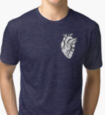 Anatomisches Herz (schwarz und weiß) Vintage T-Shirt