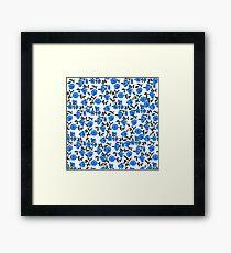 Blue Vintage Florals Framed Print