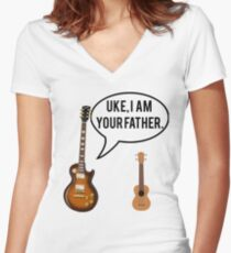 Uke Im Your Father Women's Fitted V-Neck T-Shirt