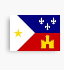 Flag of Acadiana Canvas Print