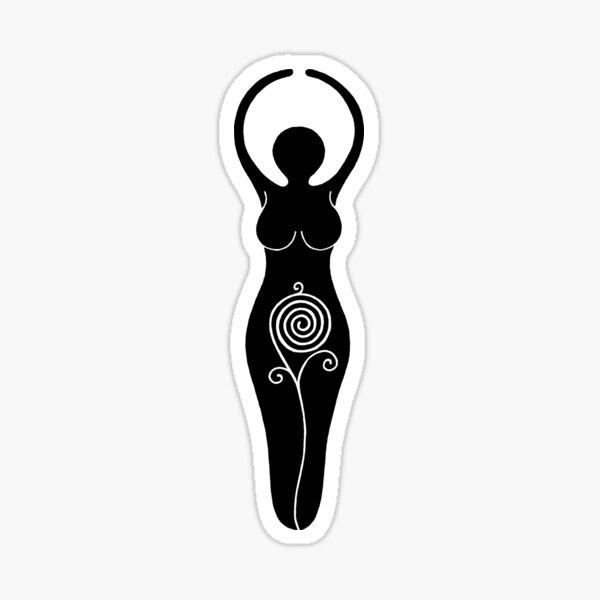 Spiral Goddess Sticker