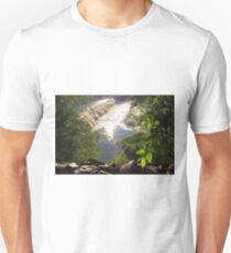 Shimmering Sun Rays on Colorado Springs Unisex T-Shirt