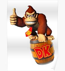DONKEY KONG S NES GAMES Poster