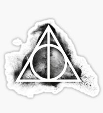 HP Hallows - sand explosion black (small) - wand, cloak, stone Sticker