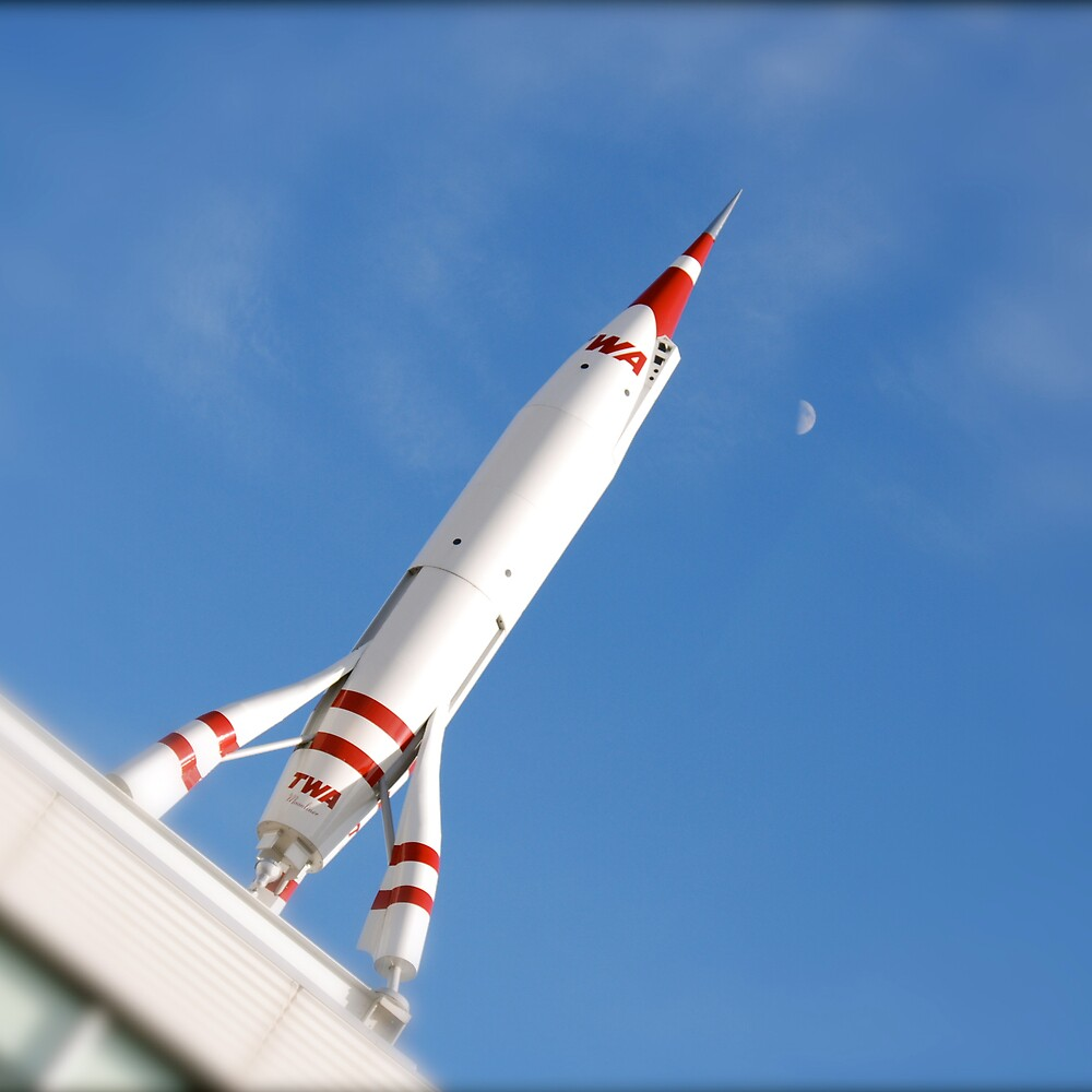 Rocket & Moon by Robert Baker