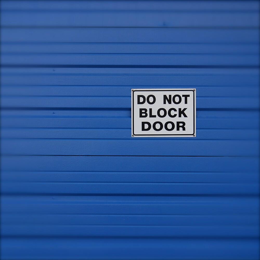 Blue Door - Do Not Block by Robert Baker