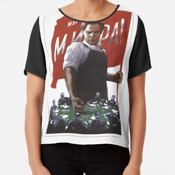 Political Poster, Political visual agitation in the Soviet Union: Political poster Chiffon Top