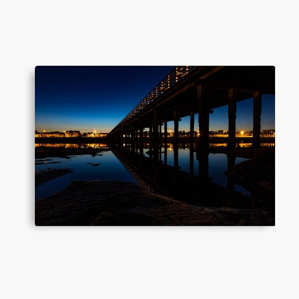 Low Tide At The Wooden Bridge Canvas Print
