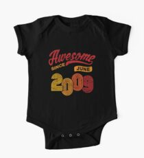 Awesome Since June 2009 Shirt Vintage 9th Birthday One Piece - Short Sleeve